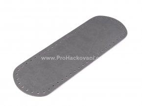 Koženkové dno na kabelku 12 x 36 cm šedé mramorované
