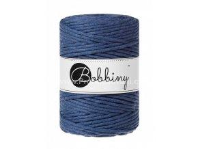 Bobbiny Macrame Cord XXL 5 mm Jeans modrá (JEANS)