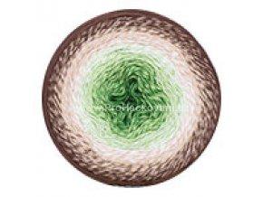 příze Flowers 272 zelená, smetanová, béžová, hnědá