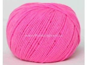příze Jeans 8304 neon růžová