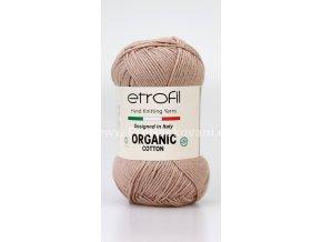 příze Organic Cotton EB030 krémově nugátová