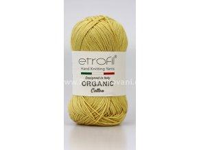 příze Organic Cotton EB028 okrově žlutá