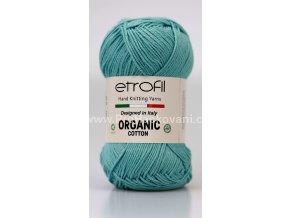 Organic Cotton EB026 matná tyrkysová