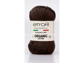 Organic Cotton EB029 matná hnědá