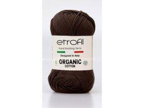příze Organic Cotton EB029 matná hnědá