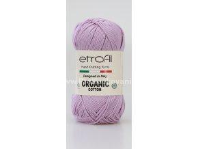 příze Organic Cotton EB034 světle fialová