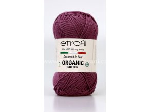 příze Organic Cotton EB001 tmavě fialová