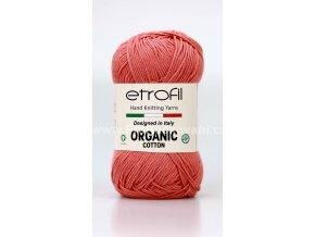 Organic Cotton EB006 světle korálová