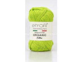 příze Organic Cotton EB009 jarní zelená