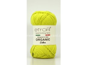 příze Organic Cotton EB008 zelenožlutá