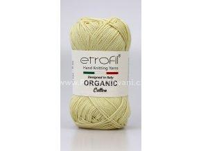 příze Organic Cotton EB007 zašedlá žlutá