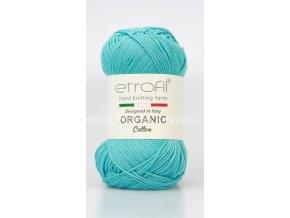 příze Organic Cotton EB011 tyrkysová