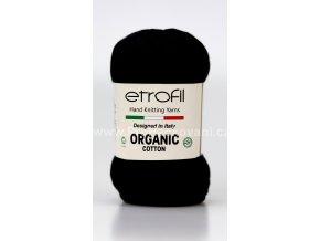 příze Organic Cotton EB022 černá