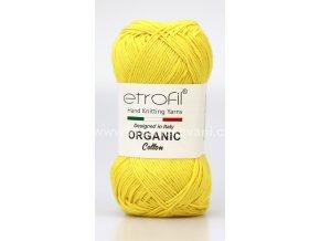 příze Organic Cotton EB018 žlutá