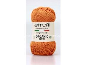příze Organic Cotton EB017 matná oranžová