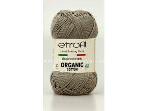 příze Organic Cotton EB014 šedobéžová