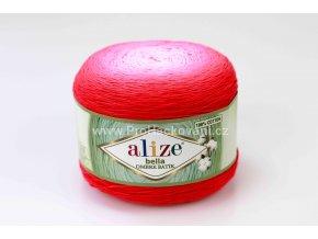 příze Bella Ombre batik 7404 odstíny malinově růžové