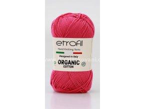 příze Organic Cotton EB020 růžově malinová