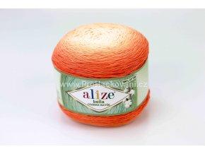 příze Bella Ombre batik 7403 odstíny oranžové