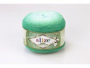 příze Bella Ombre batik 7408 odstíny zelená mint
