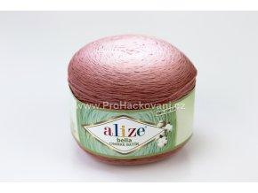 příze Bella Ombre batik 7410 odstíny starorůžově hnědé