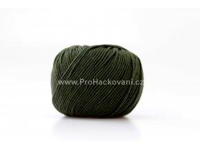 příze Jeans 8164 khaki zelená
