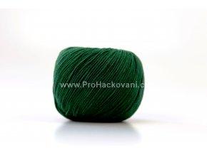 příze Jeans 8157 matná tmavá zelená