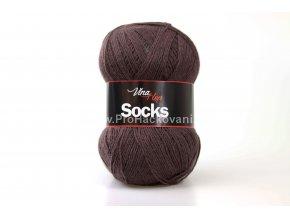 příze Socks 6520 hnědá
