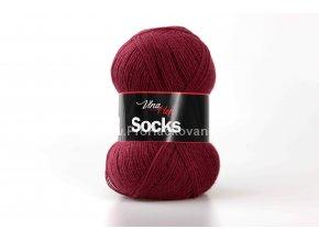 příze Socks 6023 vínová