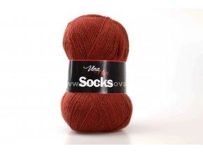 příze Socks 6207 tmavá cihlová