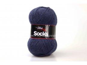 příze Socks 6114 půlnoční modrá