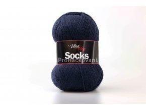 příze Socks 6119 temně  modrá
