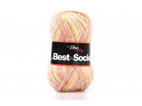 příze Best Socks 7114 lososová,starorůžová,béžová