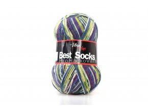 příze Best Sock 7006 tmavě modrá,švestková,olivová