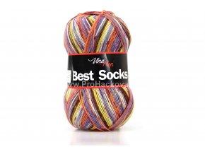 příze Best Socks 7002 šedá,lila,rezavá
