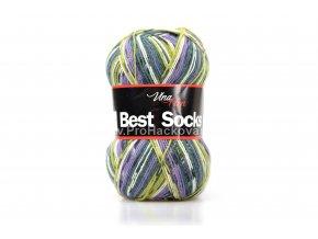 příze Best Socks 7010 olivová,fialková,petrolejová