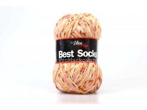 příze Best Socks 7110 lososová,hořčicová,červenohnědá