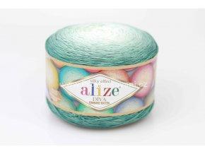 příze Diva Ombre batik 7369 mořská zelená