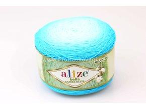 příze Bella Ombre batik 7409 odstíny tyrkysové