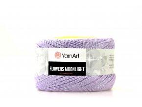 Příze Flowers Moonlight 3285 mentol, zelená, žlutá, fialková
