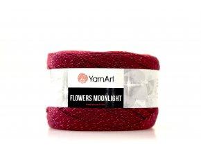 Příze Flowers Moonlight 3269 vínová,červená,lososová