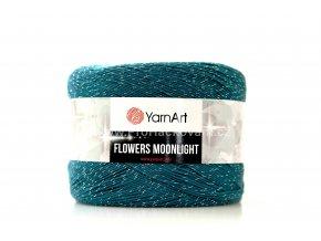 Příze Flowers Moonlight 3289 šedá, tyrkysová, petrolejová