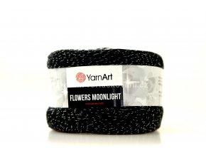 Příze Flowers Moonlight 3259 černá,šedá,slunečnicová,cihlová