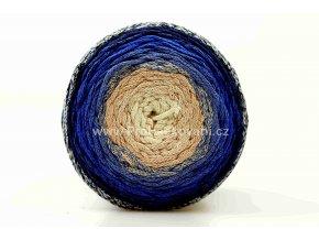 Chainy Cotton Cake ReTwisst 40 variace  béžová, modrá