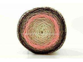 Chainy Cotton Cake ReTwisst 02 variace béžová, růžová, hnědá