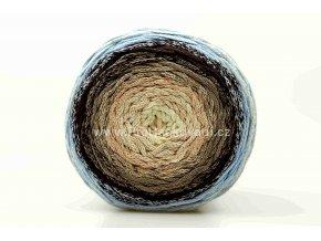 Chainy Cotton Cake ReTwisst 30 variace béžová, hnědá, světle modrá