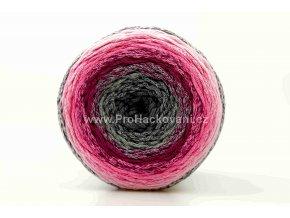 Chainy Cotton Cake ReTwisst 12 variace šedá, vínová, růžová