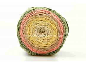 Chainy Cotton Cake ReTwisst 05 variace smetanová, žlutá, lososová, zelená