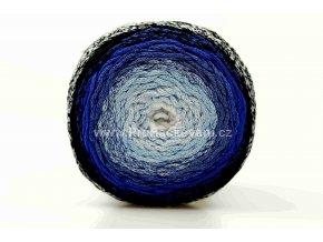 Chainy Cotton Cake ReTwisst 46  bílá a variace  modré