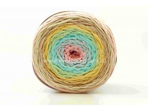 Chainy Cotton Cake ReTwisst 03 variace růžová, tyrkys, žlutá, béžová